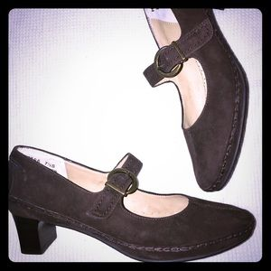 Brown Suede Leather Ross Hommerson Heels